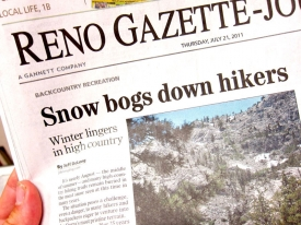 Snow Bogs Down Hikers