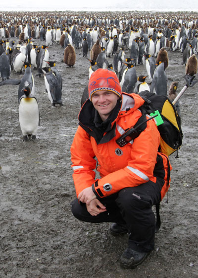 Noah with King Penguins